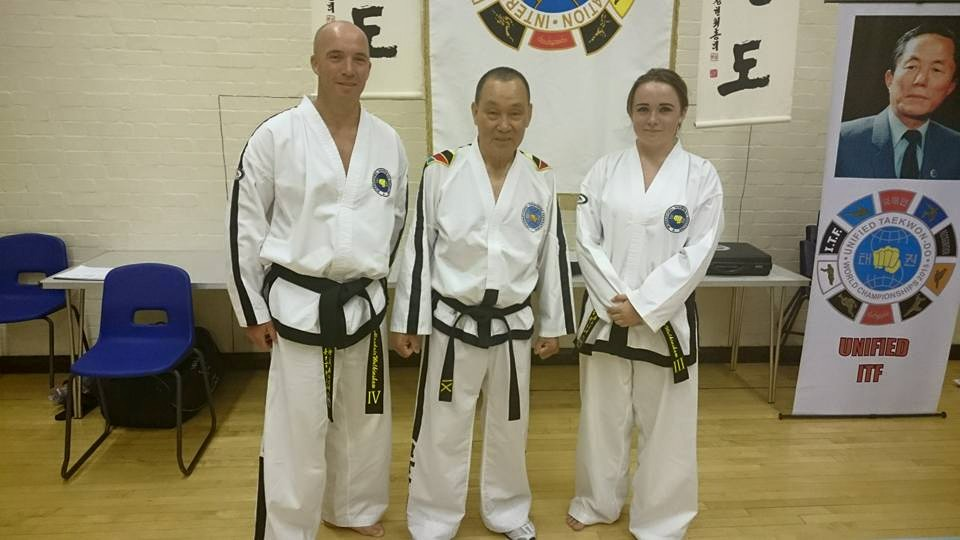 Miss Walkinshaw, Mr Walkinshaw and Grand Master Hwang Kwang Sung